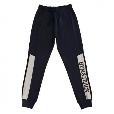 Παντελόνι φόρμα φούτερ αγόρι COTTON PLANET 2110-099 μαύρο