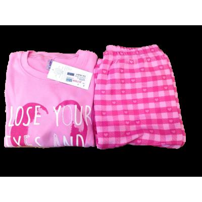 Σετ πυτζάμες για κορίτσι DREAMS 217504 ροζ