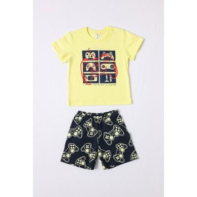 Σετ πυτζάμες αγόρι DREAMS 212304 κίτρινο