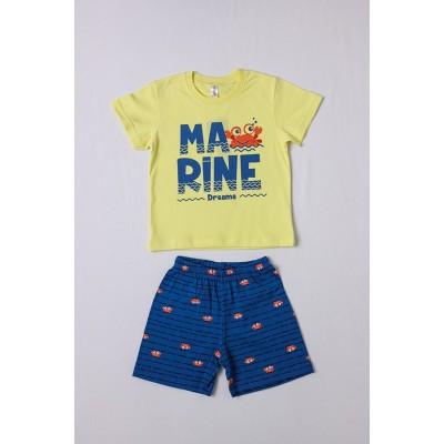 Σετ πυτζάμες για αγόρι DREAMS 212308 κίτρινο