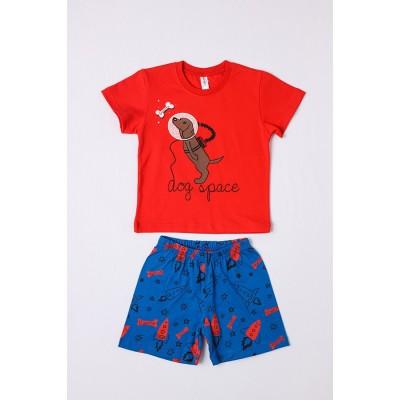 Σετ πυτζάμες για αγόρι DREAMS 212309 κόκκινο
