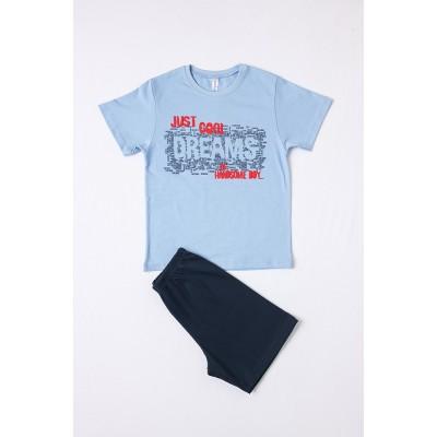 Σετ πυτζάμες αγόρι  DREAMS 212707 σιελ