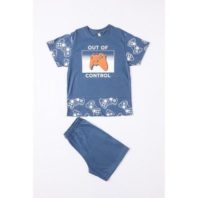 Σετ πυτζάμες αγόρι  DREAMS 212709 μπλε