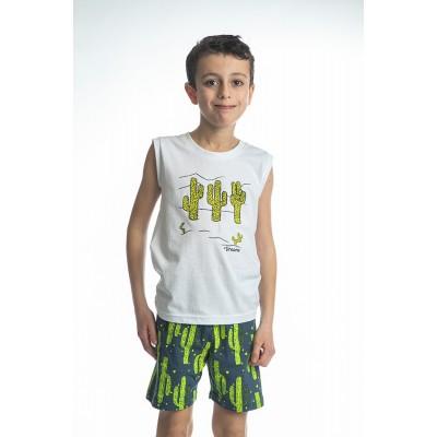 Σετ πυτζάμες αγόρι  DREAMS 212711 λευκό