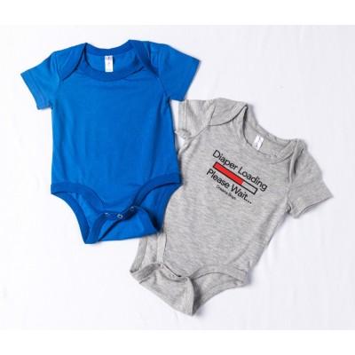 Σετ 2τμχ ζιπουνάκια-κορμάκια (εσώρουχο) για μωρό DREAMS 217072 γκρί/μπλέ ρουά