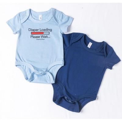 Σετ 2τμχ ζιπουνάκια-κορμάκια (εσώρουχο) για μωρό DREAMS 217072 σιελ/μπλέ ρουά