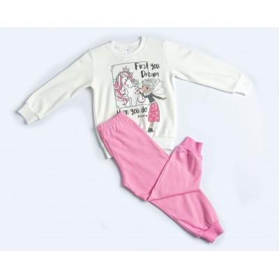 Σετ πυτζάμες για κορίτσι DREAMS 217106 λευκό