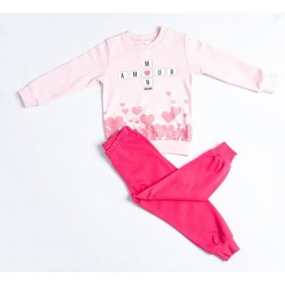 Σετ πυτζάμες για κορίτσι DREAMS 217114 ροζ