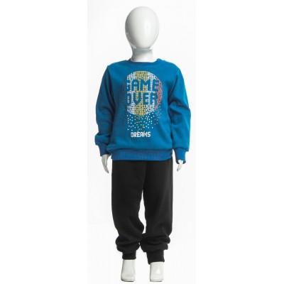 Σετ πυτζάμες για αγόρι DREAMS 217303 μπλέ ρουά