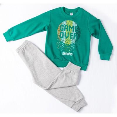 Σετ πυτζάμες για αγόρι DREAMS 217303 πράσινο