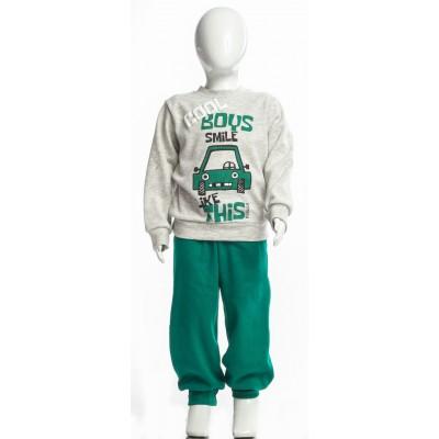 Σετ πυτζάμες για αγόρι DREAMS 217304 γκρί/πράσινο