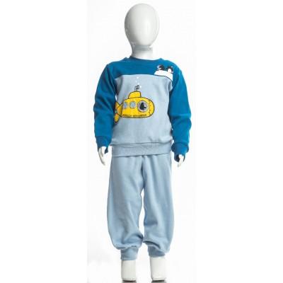 Σετ πυτζάμες για αγόρι DREAMS 217308 μπλέ ρουά