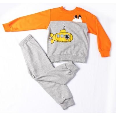Σετ πυτζάμες για αγόρι DREAMS 217308 πορτοκαλί