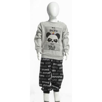 Σετ πυτζάμες για αγόρι DREAMS 217309 γκρί