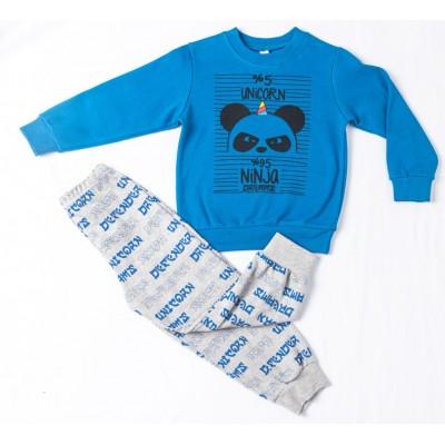 Σετ πυτζάμες για αγόρι DREAMS 217309 μπλέ ρουά