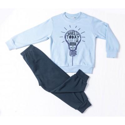 Σετ πυτζάμες για αγόρι DREAMS 217311 σιέλ