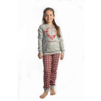 Σετ πυτζάμες για κορίτσι DREAMS 217504 γκρί