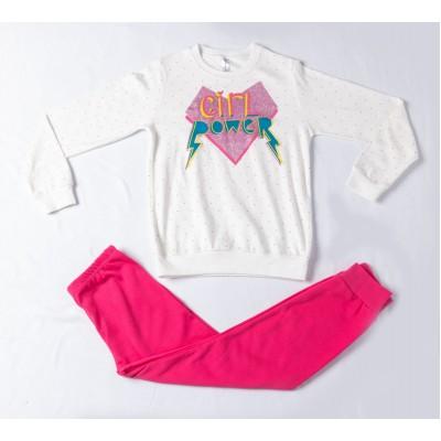 Σετ πυτζάμες για κορίτσι DREAMS 217510 λευκό