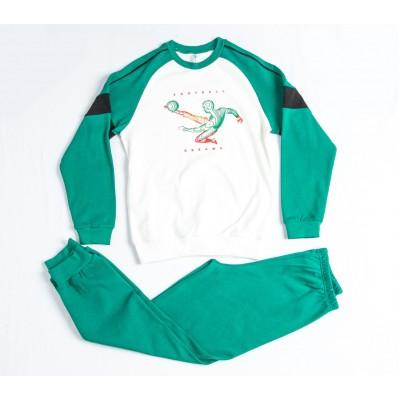 Σετ πυτζάμες για αγόρι DREAMS 217708 γκρί/κόκκινο