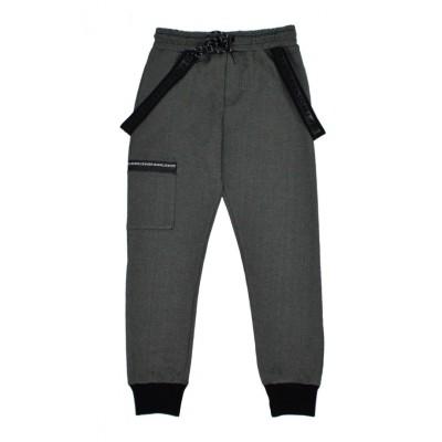 Παντελόνι φόρμα φούτερ για αγόρι HASHTAG 215761 γκρί