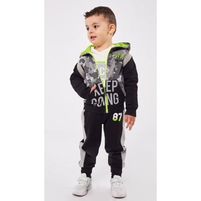Σετ 3τμχ φόρμα για αγόρι HASHTAG 215825 μαύρο/γκρί
