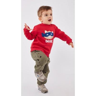 Σετ φόρμα για αγόρι HASHTAG 215616 κόκκινο/λαδί