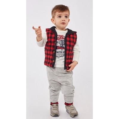 Σετ φόρμα για αγόρι HASHTAG 215603 κόκκινο/γκρί