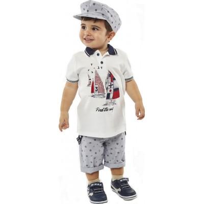 Σετ αγόρι HASHTAG λευκό/σιελ 214614