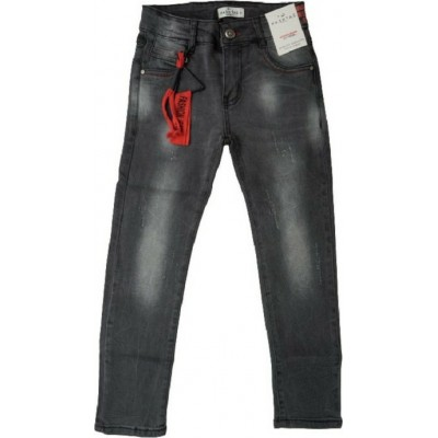 Παντελόνι τζην για αγόρι HASHTAG 203710 μαύρο