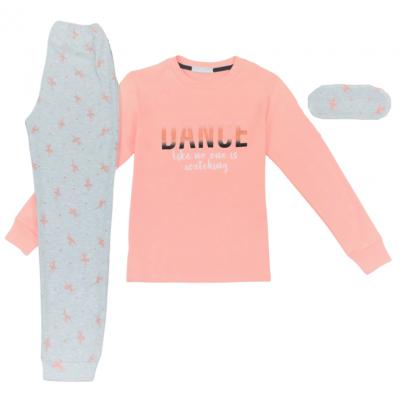 Σετ πυτζάμες για κόριτσι Hommies by EBITA & HASHTAG ροζ Η-118