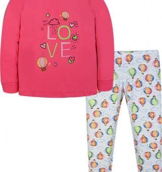 Σετ πυτζάμες για κόριτσι Hommies by EBITA & HASHTAG φούξια Η-111
