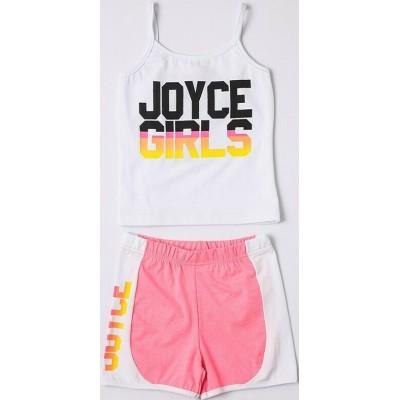 Σετ κορίτσι μακό με σορτσάκι JOYCE 211546 λευκό/φούξια