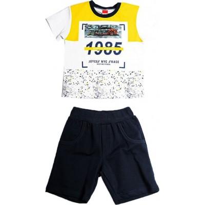 Σετ αγόρι μακό  JOYCE 211363 λευκό-κίτρινο/μαύρο