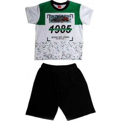 Σετ αγόρι μακό  JOYCE 211363 λευκό-πράσινο/μαύρο