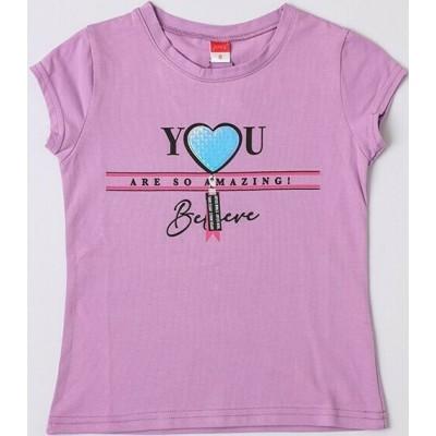 Μπλούζα κοντό μανίκι κορίτσι JOYCE 211594 λιλά