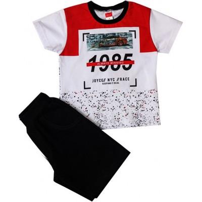 Σετ αγόρι μακό  JOYCE 211363 λευκό-κόκκινο/μαύρο
