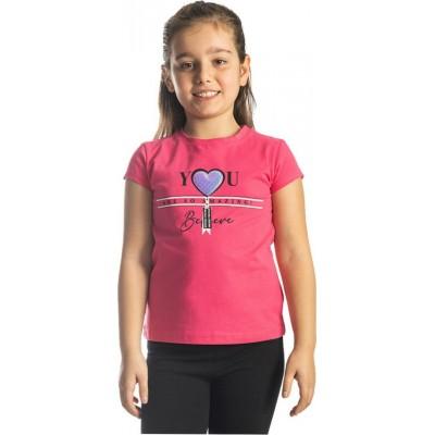 Μπλούζα κοντό μανίκι κορίτσι JOYCE 211594 φούξια