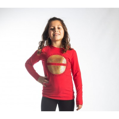 Μπλούζα μακρύ μανίκι για χειμώνα JOYCE 216553 κόκκινο