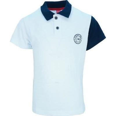 Μπλούζα αγόρι μακό με γιακά JOYCE 201285 λευκή