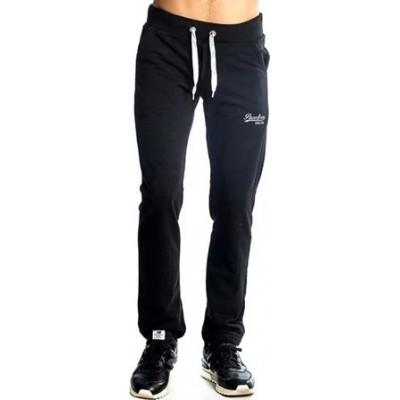Παντελόνι φούτερ ανδρικό χωρίς λάστιχο στο κάτω μέρος και κορδόνια στη μέση  PACO & CO μαύρο 200305