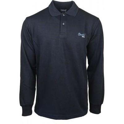 Μπλούζα ανδρική μακρύ μανίκι για χειμώνα με γιακά PACO & CO 200317 μαύρο