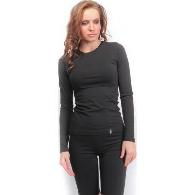 Μπλούζα γυναικεία μακρύ μανίκι PACO & CO μαύρη 200203