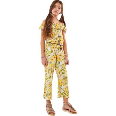 Ολόσωμη φόρμα κορίτσι ΕΒΊΤΑ 202059 κιτρινη