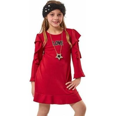 Φόρεμα ΕΒΙΤΑ κόκκινο 199003