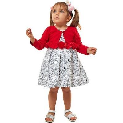 Σετ φόρεμα με μπολερό Εβίτα 202514 κόκκινο