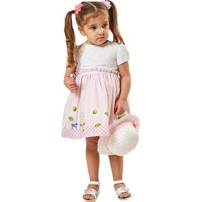 Φόρεμα bebe με καπελο ΕΒΊΤΑ 202504 Λευκο