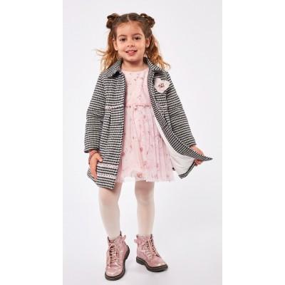 Σετ φόρεμα με παλτό ΕΒΙΤΑ 215245 ροζ