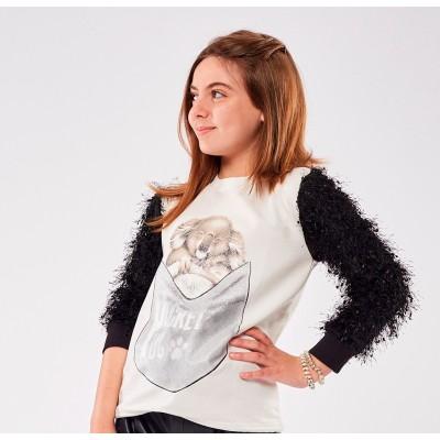 Μπλούζα για κορίτσι ΕΒΙΤΑ 215128 εκρού