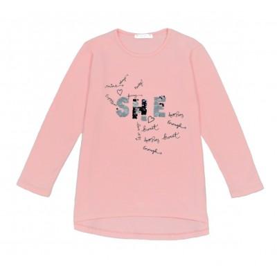 Μπλούζα για κορίτσι ΕΒΙΤΑ 215111 σομόν