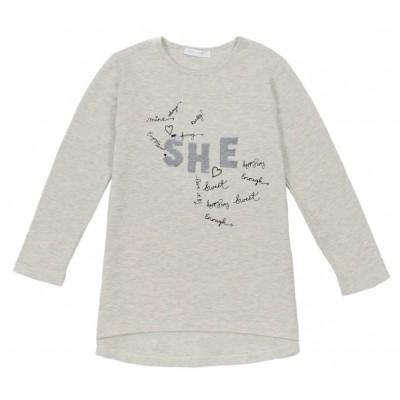 Μπλούζα για κορίτσι ΕΒΙΤΑ 215111 γκρί